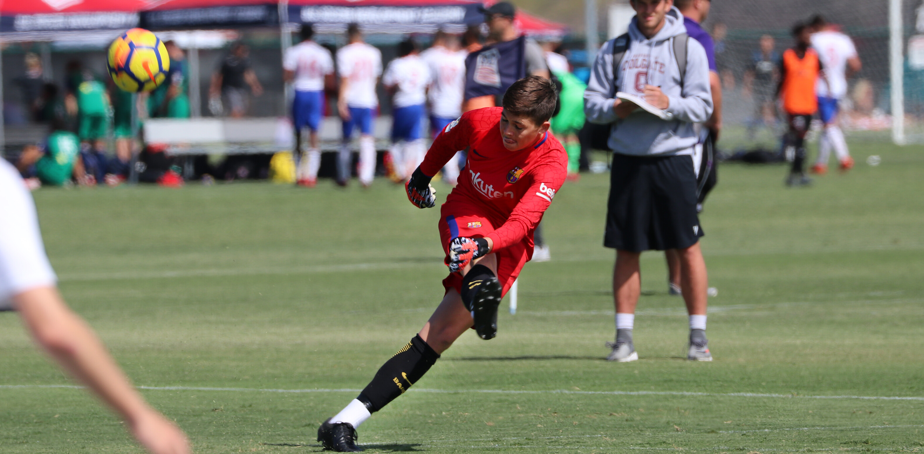 Barca Residency Academy Keeper Luke Pruter during USSDA Playoffs