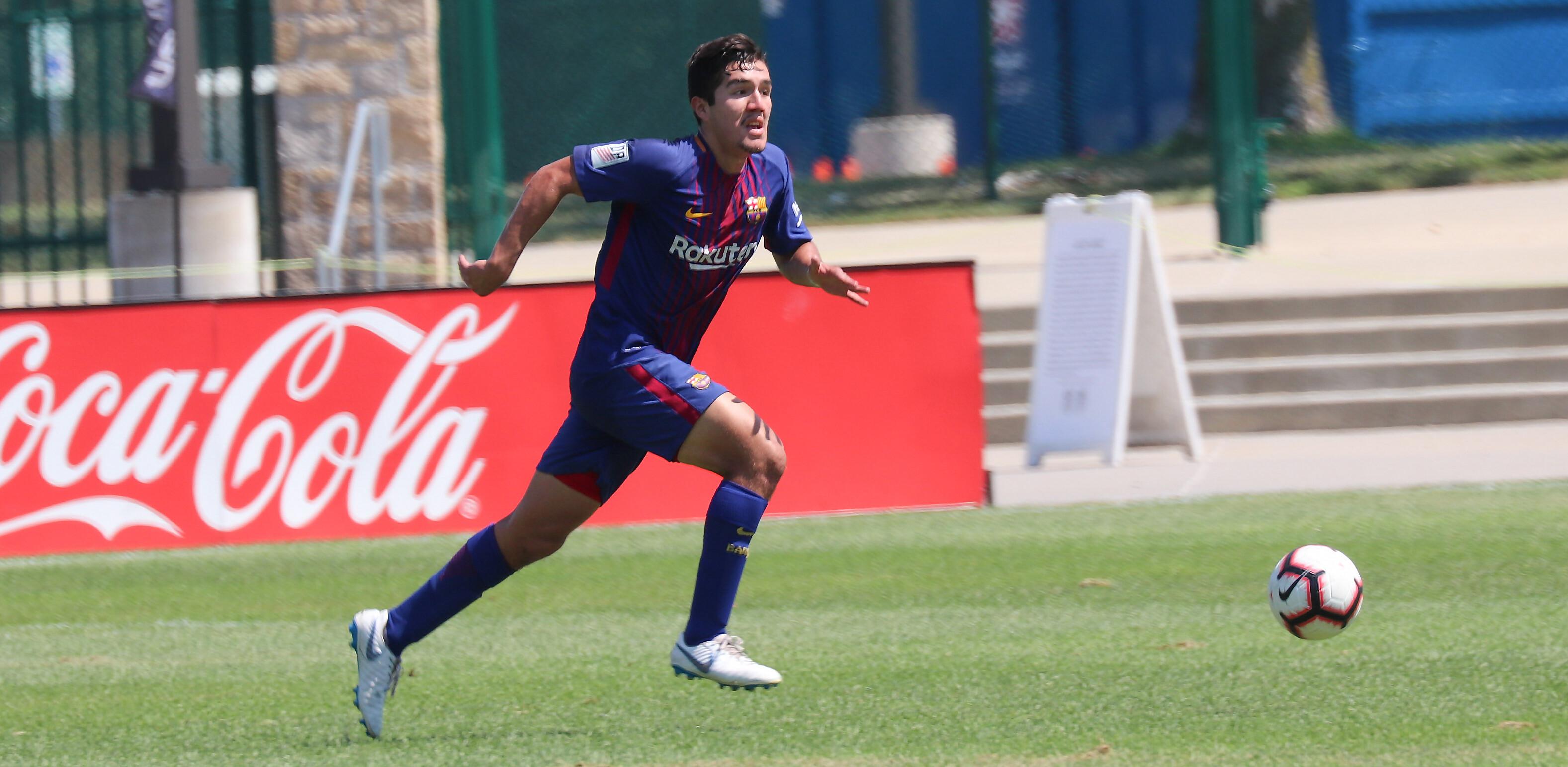 Barca Residency Academy Player, Pedro Mondragon at 2017-18 DA Championships
